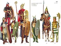 British, Gallic, German clothing