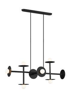 8 - Light Linear Chandelier by Feiss Linear Chandelier, Pendant Chandelier, Pendant Lighting, Interior Lighting, Lighting Design, Clothing Store Interior, Wall Lights, Ceiling Lights, Ceiling Lamp