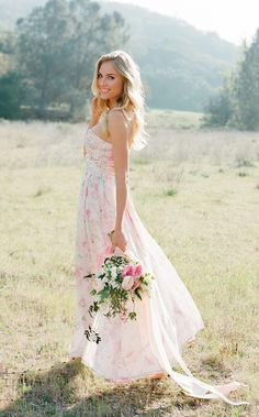 Ethereal floral prints upon flowing, feminine silhouettes. A pretty new choice for bridesmaids. Click to see these new gowns from PPS Couture including this beauty... the Charlie Dress in Petal. www.PPSCouture.com.