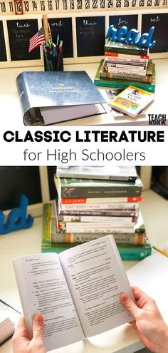 Classic Literature for High schoolers ~ tips for getting them to love reading classic books with Sonlight Curriculum via Karyn @ Teach Beside Me The Effective Pictures We Offer You About High School f High School Reading, High School Books, High School Literature, Teaching Literature, Homeschool High School, Literature Books, Classic Literature, Kids Reading, Classic Books