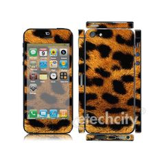 Animal Pattern Skin Cover Screen Protector for Apple iPhone 5 (Style 3) [CCSK-PHVPL19] - $12.00 : Leopard 3