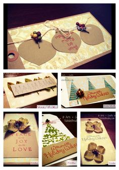 Christmas Gift Tags by Natalie Bradley (collage)