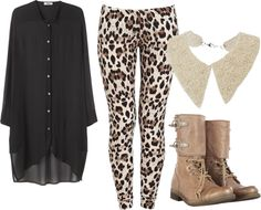"""""""leopard"""" by abbeyparsons on Polyvore"""