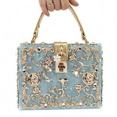 Women' Sparkling Crystal Clutch Purse Elegant Acrylic Evening Bags For Wedding Party Handbag Pursey (BLUE) what backpack diaper bags to buy Cheap Handbags Online, Popular Handbags, Cute Handbags, Purses And Handbags, Bridal Handbags, Purses Online, Prada Purses, Latest Handbags, Fabric Handbags