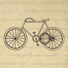 Digital Antique Bicycle Printable Image by VintageRetroAntique