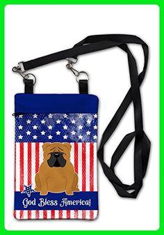"Caroline's Treasures BB3117OBDY Patriotic USA English Bulldog Red Crossbody Bag Purse , 6 1/2 x 9 1/2"", multicolor - Crossbody bags (*Amazon Partner-Link)"