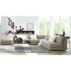 Moda Sectional Armless Loveseat in Sofas | Crate and Barrel - $679 on sale (reg $1699)