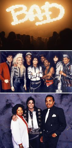 Michael Jackson's 1987-1988 Bad World Tour-notice he doesn't have his arm around his dad.....