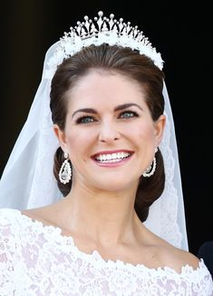 Princess Madeleine Princess Madeleine of Sweden appears on the balcony after the wedding ceremony of Princess Madeleine of Sweden and Christopher O'Neill hosted by King Carl Gustaf XIV and Queen Silvia at The Royal Palace on June 8, 2013 in Stockholm, Sweden.