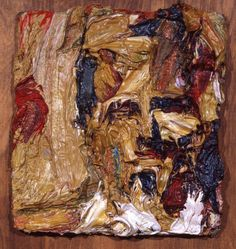 Frank Auerbach - HEAD OF EOW., SKETCH II, (oil on board) 1961
