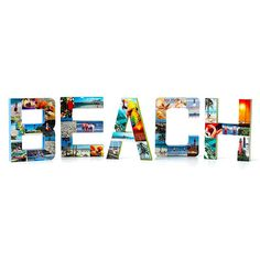 Use large papier-mache letters to share vacation memories. Lay each letter facedown on paper to outline its shape. Cut the shape into sections that work with your images. Paint the sides and backs of the letters with crafts paint; let dry. Use the pattern to cut postcards and photos to size. Apply spray adhesive to your cut postcard and picture pieces, and cover the letters. Great way to display pictures from a vacation!