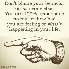 You are 100% responsible...