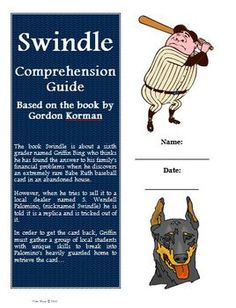 Swindle Reading Comprehension Activity Guide. Great questions for students and answer key for the teacher! $