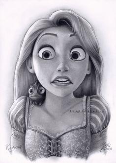 Disney: Disney Princesses: Tangled: Art: Rapunzel Drawing 4 by B-AGT.deviantart.com on @deviantART