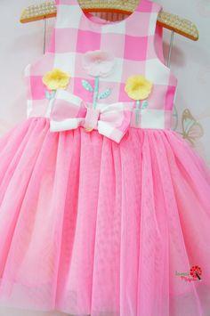 Vestido Infantil Fazendinha Tule Mon Sucré