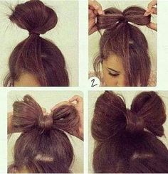 Cute bow hairstyle