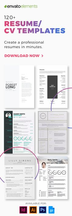 279 free resume templates in Word you can download, customize, print