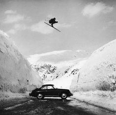 Porsche Classic, Ski Vintage, Vintage Ski Posters, Vintage Winter, Vintage Travel, Vintage Cars, Photo Ski, St Anton, Ski Jumping