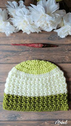 Mabel Crochet Beanie - Free Pattern sizes Baby to Adult. Oombawka Design Crochet. Medium Weight Yarn [4] and a 5.5 mm (I) hook. #yarnspirations #crochetpattern #crochethat #furlsinf721 #caron Crochet For Kids, Crochet Baby, Free Crochet, Knit Crochet, Chrochet, Stitch Patterns, Crochet Patterns, Hat Patterns, Crochet Ideas