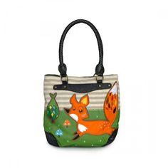 Crowded Teeth Fox Tote - Bags