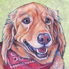 8 x 8 Custom Pet Portrait Painting in Acrylic by bethanysalisbury, $90.00