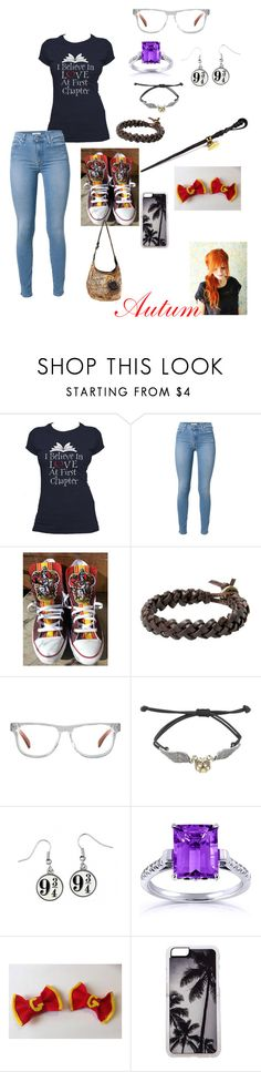 """Autum-Hanging out with my friends"" by bookwormoneal46 ❤ liked on Polyvore featuring 7 For All Mankind, Converse, MANGO, Ivory + Mason, Hot Topic, Kobelli and Zero Gravity"