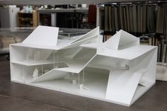 polychroniadis:  Model for the 'folding house'  at Shanghai furniture expo by Standardarchitecture.