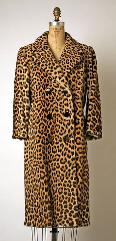 1960s leopard fur double-breasted coat (Metropolitan Museum of Art)