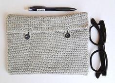 iPad crochet case //  Soft iPad cover // Grey by NatbeesFashion, $28.00