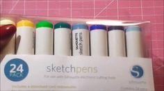 Using my sketch pens  Using the Silhouette Cameo, Design Studio and Silhouette Sketch Pens to cutout lables and to write out the titles.