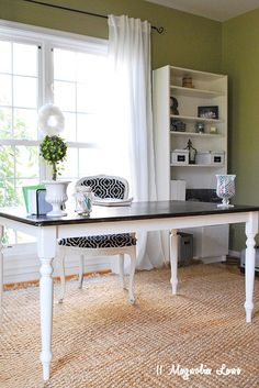 New Home Office Reveal Desksoffice Eswhite Desk Officehome Tabledining Room