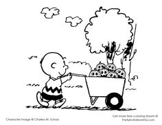 Its the Great Pumpkin Charlie Brown Coloring Pages Linus Waiting