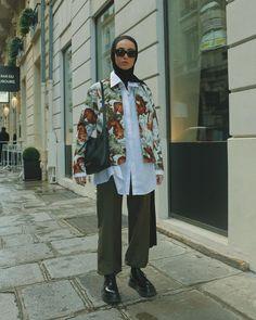 Hijab Fashion Summer, Modest Fashion Hijab, Modern Hijab Fashion, Street Hijab Fashion, Hijab Fashion Inspiration, Muslim Fashion, Fashion Outfits, Fashion Ideas, Short