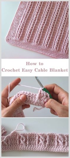 Crochet easy cable blanket beginner step by step instructions and photos to knit a bunny from a square step 1 to commence we will throw with various appea beginner blanket cable diy blumenkronen mit einfachen quaste pflanzenwuchs gemacht crowns diy e Crochet Diy, Crochet Simple, Crochet Afghans, Learn To Crochet, Baby Blanket Crochet, Crochet Crafts, Easy Things To Crochet, Diy Crafts Knitting, Knitted Baby