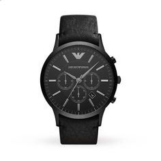 0cca30b1660 Emporio Armani AR2461 Classic Black Leather Mens Watch