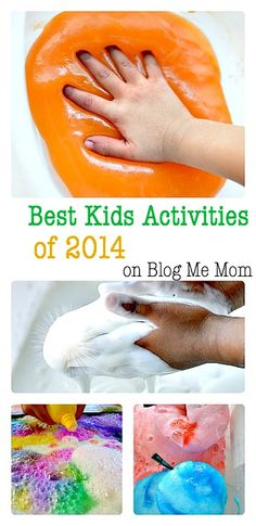 Most loved kids activities of 2014 - almost all of them are simple sensory activities for kids. from Blog Me Mom
