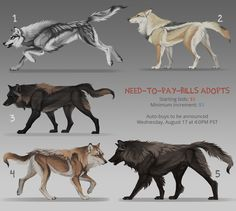 FINALLY wolf adopts: CLOSED by KFCemployee on DeviantArt
