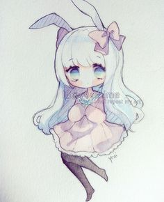 Have a fantastic day~!! *^* <3 #sakurakoi #watercolor #watercolour #sketch #chibi