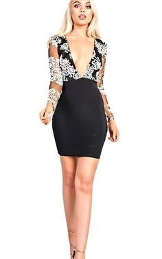 Women's Ladies Gorgeous Glam Sequin Deep Plunge Mini Bodycon Dress ** You can find more details by visiting the image link. (This is an affiliate link) #ClubbingDress