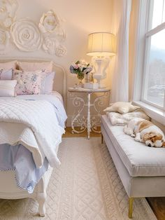Spring Bedroom Refresh - Making things in my guest bedroom fresh and clean by adding pops of fun color and some new furniture pieces. Room Ideas Bedroom, Small Room Bedroom, Bedroom Decor, Small Rooms, Bedroom Bed, Bedroom Designs, Bed Room, Girls Bedroom, Master Bedroom