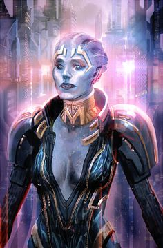 Samara the Mystic Asari by axl99.deviantart.com on @deviantART
