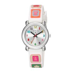 """TOUS Sixties watch. Stainless Steel 316L case and buckle. Case Ø: 27mm. - 1 1/16"""". Mineral crystal. Water resistant: 3 ATM. Quartz movement. Functions: hour, minutes and seconds. Plastic strap.TOUS Washington DC"""
