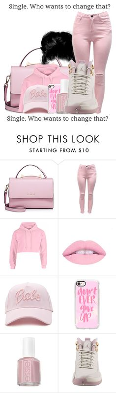"""""""Single. Who Wants To Change That ?"""" by airenikole ❤ liked on Polyvore featuring WithChic, Forever 21, Casetify, Essie and NIKE"""