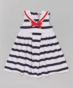 Navy Stripe Sailor Babydoll Dress - Infant, Toddler & Girls