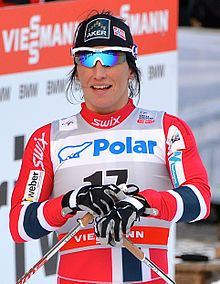 c531d3d5 Marit Bjørgen, skiing legend from Norway topped the medal table. Marit  Bjorgen won gold in the women's cross-country skiing mass start classic, ...
