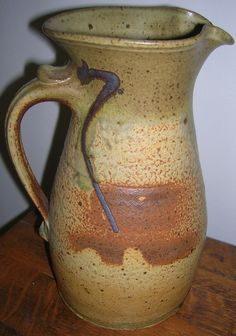 Handmade Pottery Pitcher great for serving tea and lemonade, juice, and all kinds of drinks.