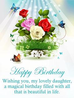 Irish Birthday Wishes, Happy Birthday Wishes Messages, Birthday Greetings For Daughter, Birthday Cake Greetings, Happy Birthday Flower, Birthday Wishes For Myself, Happy Birthday Fun, Birthday Greeting Cards, Special Birthday