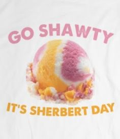 Skreened Shirt l Go shawty it's sherbert day Haha Funny, Hilarious, Lol, Funny Stuff, Cool Shirts, Funny Shirts, Love Puns, Just For Laughs, Laugh Out Loud