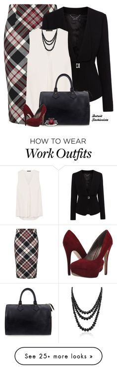 """Fall-Office Wear"" by detroitfashionista on Polyvore featuring Alexander McQueen, Karen Millen, Theory, Louis Vuitton, Michael Antonio, Bling Jewelry and officestyle"