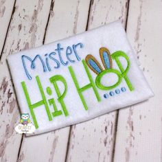 Mister Hip Hop Shirt Boy Easter Shirt Boy Egg by GingerLyBoutique